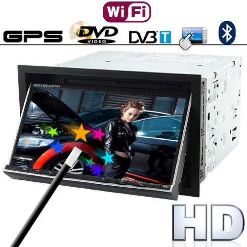 7 Inch HD Touch Car DVD Player (WIFI, GPS, DVB-T)